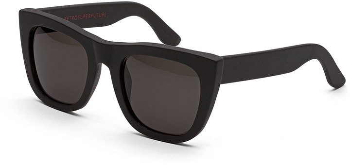 3ed8a9a0256 ... RetroSuperFuture Super By Gals Thick Frame Sunglasses Black ...