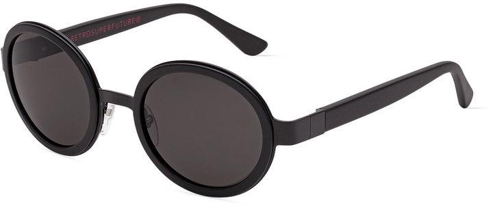 650ad45eda76d8 ... Super By Retrosuperfuture Santa Matte Round Sunglasses Black
