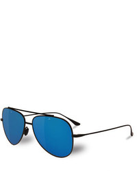 6247095994a Vuarnet Swing Titanium Pilot Polarized Sunglasses Blackblue