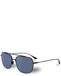 25998091edf ... Vuarnet Swing Titanium Rectangular Aviator Polarized Sunglasses Matte  Blackblue