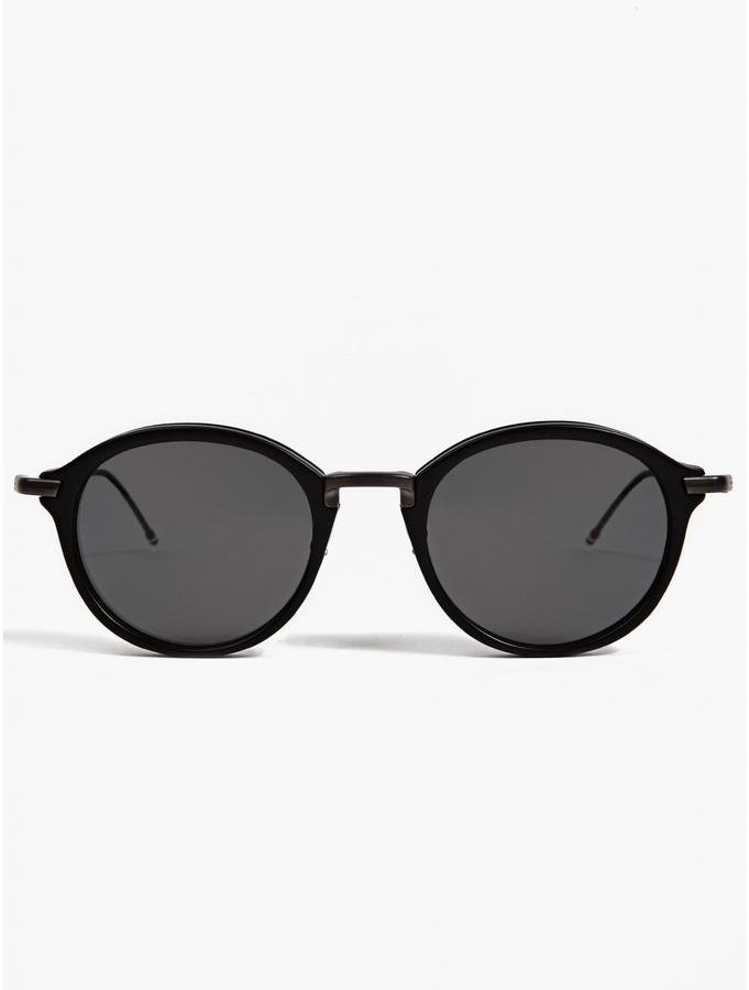 c6883f4eb4ec ... Thom Browne Tb 011 Matte Black Sunglasses ...
