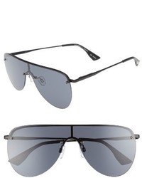 Le Specs The King 58mm Shield Sunglasses Gold