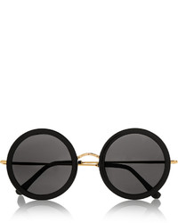 The Row Round Frame Acetate And Metal Sunglasses