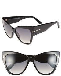 Tom Ford Anoushka 57mm Gradient Sunglasses Black Pink Lapo