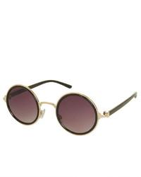 Topshop Mimi Round Sunglasses