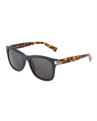 Lanvin Two Tone Square Plastic Sunglasses Black