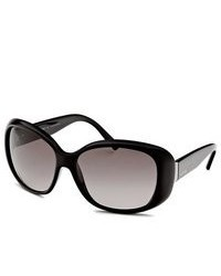 Valentino Oval Black Sunglasses
