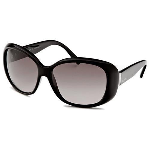 Valentino Oval Black Sunglasses
