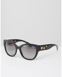 Versace Cat Eye Sunglasses With Eyelet Detail