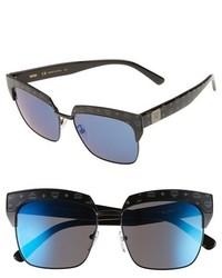 MCM Visetos 56mm Retro Sunglasses Matt Black Black Visetos