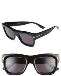 Tom Ford Wagner 52mm Sunglasses Shiny Black Smoke