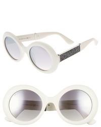 Jimmy Choo Wendy 51mm Round Sunglasses White Glitter White