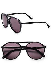 Wildfox Couture 60mm Round Aviator Sunglasses