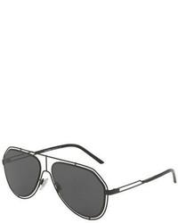 Dolce & Gabbana Wire Rim Aviator Sunglasses