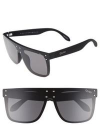 Quay Xkylie Hidden Hills 59mm Shield Sunglasses Black