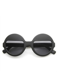 ZeroUV High Fashion Eyelid Half Lens Round Sunglasses