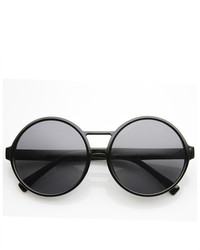 ZeroUV Large Fashion Oversized Round Circle Sunglasses