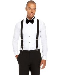 Hugo Boss Bratt Black Suspenders One Size Black