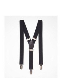 Express Solid Suspenders Black