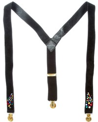 Rewind vintage affairs rhinestone embellished suspenders medium 189216