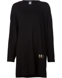 Bernhard Willhelm Embroidered Monkeys Sweatshirt Dress