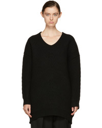 Acne Studios Black Deka Sweater Dress