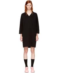 Kenzo Black Logo V Neck Sweatshirt Dress