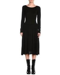 Tomas Maier Cashmere Drop Waist Sweater Dress
