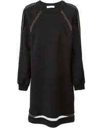 Chloé Fishnet Detail Sweater Dress