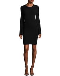 Alice + Olivia Gretel Crewneck Split Sleeve Ribbed Sweater Dress