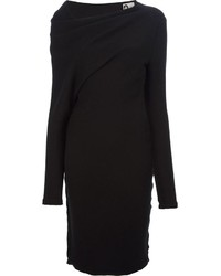 Lanvin Draped Sweater Dress
