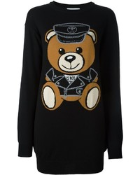 Moschino Biker Teddy Sweater Dress