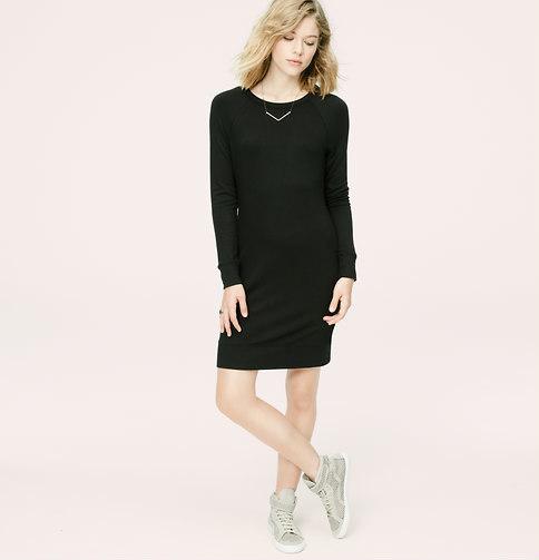 Loft Petite Lou Grey Sweatshirt Dress 59 Loft Lookastic