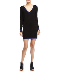 Rag and Bone Rag Bone Kendra Long Sleeve Sweaterdress Black