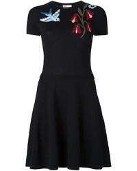 RED Valentino Flower Short Sweater Dress
