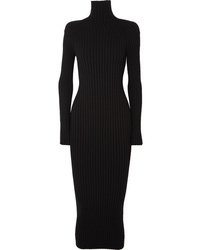 Haider Ackermann Ribbed Wool And Turtleneck Midi Dress