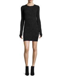 Current/Elliott The Melange Sweaterdress Blackgray