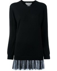 RED Valentino Tulle Bottom Sweater Dress