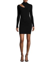 A.L.C. West Long Sleeve Slit Shoulder Fitted Sweater Dress