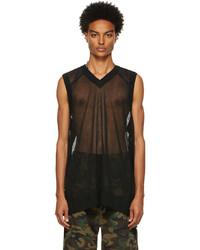 Vetements Black Transparent Knitted Vest