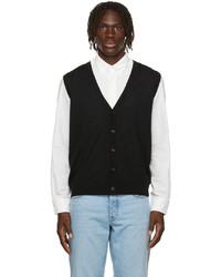 Z Zegna Black Wool Jersey Vest