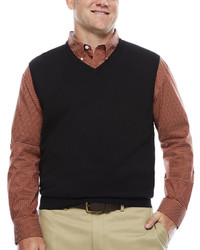 Izod Fieldhouse V Neck Sweater Vest Big Tall