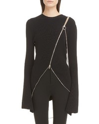 Givenchy Asymmetrical Zip Sweater