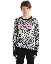 Diesel Flamingo Cotton Viscose Knit Sweater