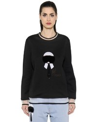 Fendi Karl Fur Sequins Jersey Sweatshirt