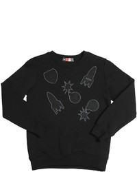 MSGM Felt Patches Cotton Sweatshirt