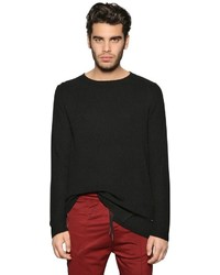 Diesel Viscose Wool Blend Rib Knit Sweater