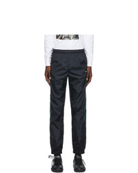 Off-White Black And Green Diag Track Pants