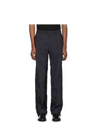 Valentino Black And Navy Nylon Lounge Pants