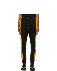 Fendi Black And Yellow Logo Lounge Pants
